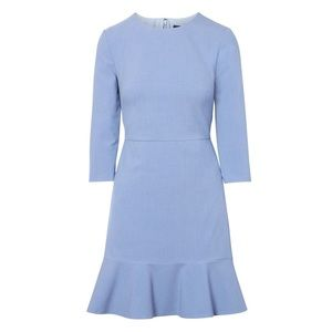 Banana Republic Blue Fit & Flare Dress